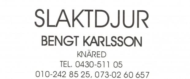 Slaktdjur Bengt Karlsson